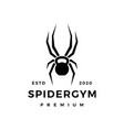 spider gym kettlebell fitness logo icon vector image