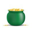 st patricks pot of gold vector image