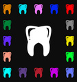 Tooth icon sign Lots of colorful symbols for your vector image