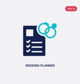 two color wedding planner icon from birthday vector image