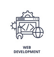 web development line icon concept web development vector image vector image