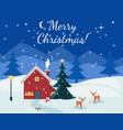 winter christmas christmas happy new year cartoon vector image
