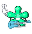with guitar free form mascot cartoon vector image