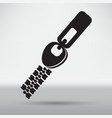 zippers icon vector image vector image