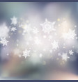 winter bokeh background with snowflakes eps 10 vector image