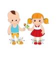 boy and girl character vector image