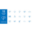 15 computing icons vector image vector image