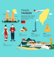 traveling to taiwan by landmarks map