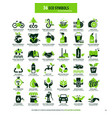 36 symbols for eco environment vector image