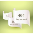 404 Error file not found on website page vector image