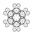 A circular ornament vector image