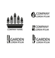 A set of garden logos vector image