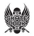 a theme skateboarding vector image