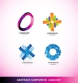 Abstract corporate business logo icon set vector image vector image