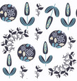 abstract floral seamless pattern it is located in vector image