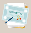 accredited authorized organization business vector image vector image