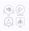 Baby clothes bath and hat icons vector image vector image
