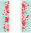 Banner with red flowers vector image vector image