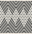 black and white geometric lines zigzag pattern vector image vector image