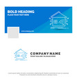 blue business logo template for automation home vector image