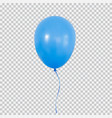 blue helium balloon isolated on transparent vector image