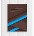 Brochure in material design style vector image
