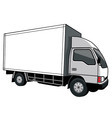 Cargo truck with blank space vector image vector image