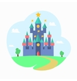 Cartoon Magic Castle Fairytale Medieval House vector image