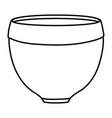 ceramic garden pot decorative icon vector image