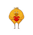 character cartoon hen in love with hearts sticker vector image vector image