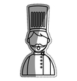 Chef hat profile vector image vector image