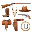 Cowboy Elements Set vector image