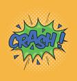 crash wording sound effect vector image vector image