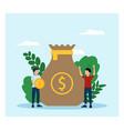 crowdfunding money in flat design vector image vector image