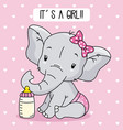 cute baby girl elephant vector image
