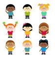 diverse group children vector image vector image