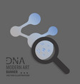 dna design over white background vector image vector image
