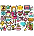 Doodles cute color elements vector image vector image