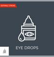 eye drops icon vector image vector image