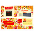 fast food restaurant menu template design vector image vector image