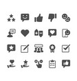 feedback and review glyph icons vector image