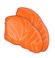 fish steak of salmon vector image vector image
