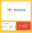 food logo design with tagline front and back vector image vector image