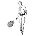 forehand vintage vector image vector image