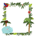 Frame with African animals vector image vector image
