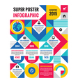 Geometric infographic concept poster vector image vector image