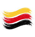grunge brush stroke with national flag of germany vector image