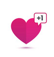 heart like with notification vector image vector image