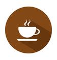 icon coffee mug vector image vector image
