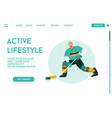 landing page active lifestyle concept vector image vector image